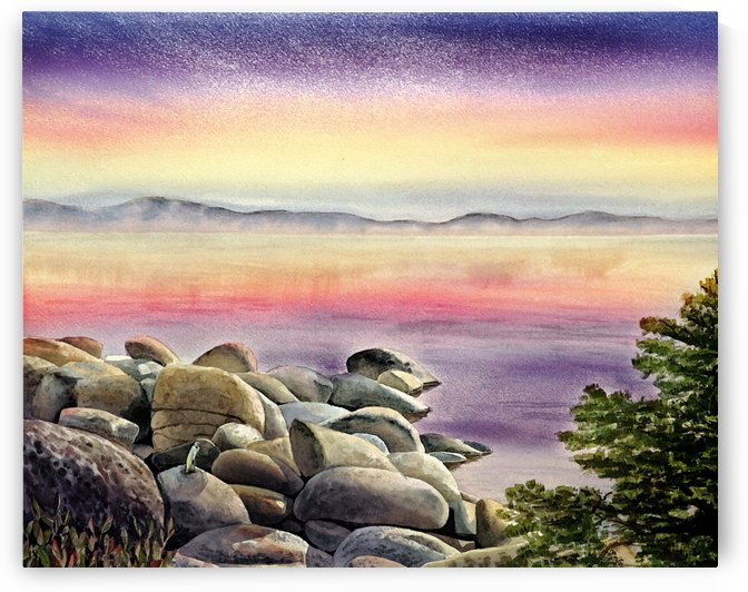 Purple Sunset At The Lake by Irina Sztukowski