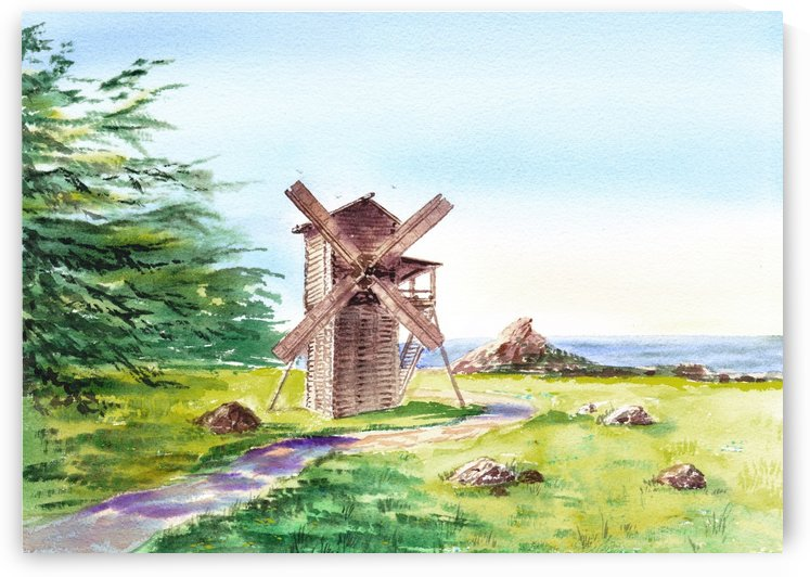 Landscapes Of California Fort Ross Windmill by Irina Sztukowski