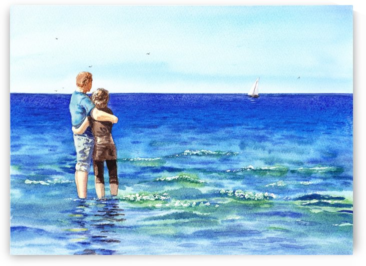 Couple And The Sea by Irina Sztukowski