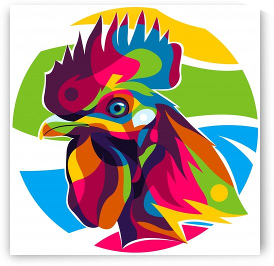 Colorful Cock Inside by wpaprint