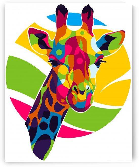 The Giraffe Portrait by wpaprint