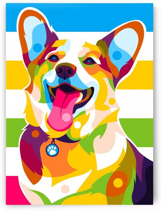Labrador Dog Portrait Pop Art Colorful by wpaprint
