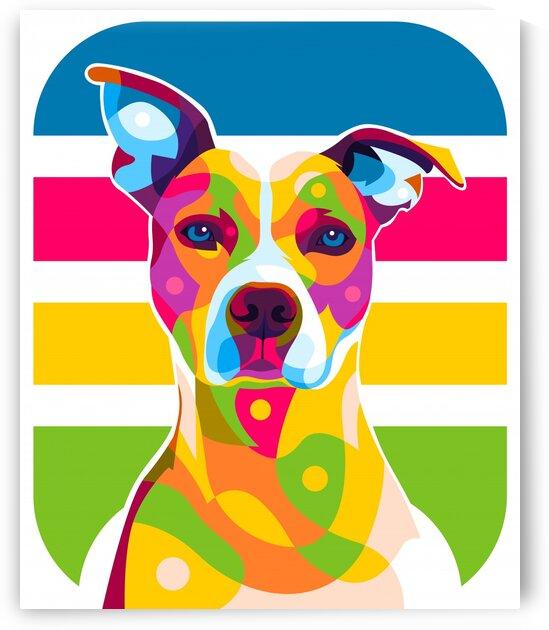 Dog Portrait Colorful Pop Art by wpaprint