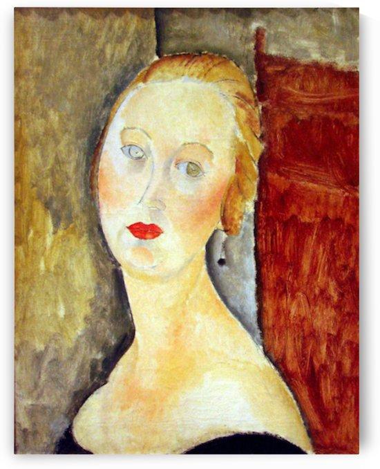 Modigliani - Portrait de Germaine Survage by Modigliani