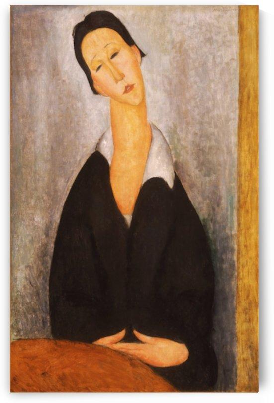 Modigliani - Portrait of a Polish woman by Modigliani