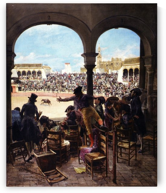 Un lance en la plaza de toros by Jose Jimenez Aranda