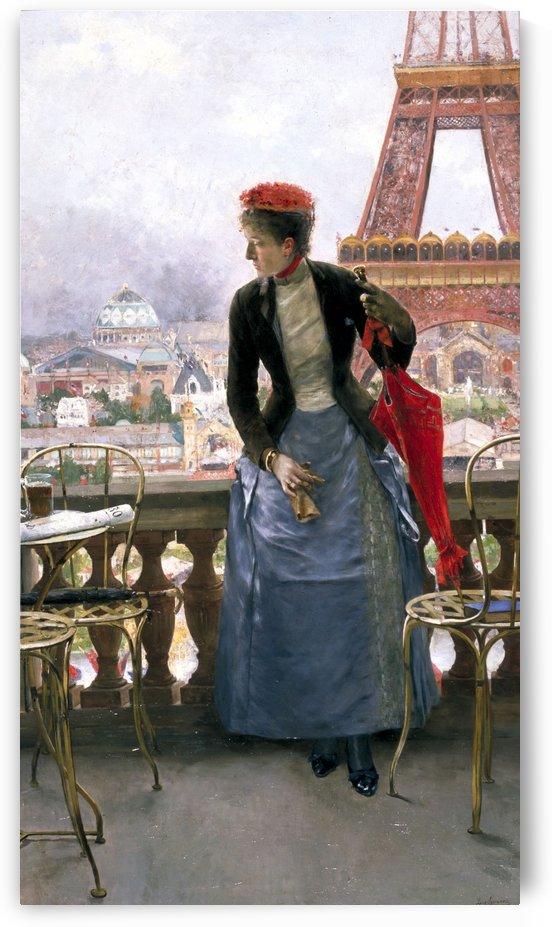 Dama en la Exposicion Universal de Paris by Jose Jimenez Aranda