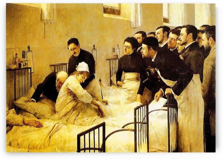 Doctor auscultation by Luis Jimenez Aranda