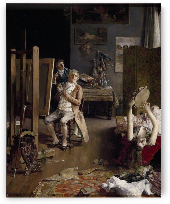 En el estudio del pintor by Luis Jimenez Aranda