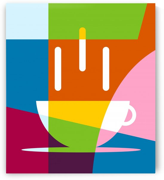 The Coffee Abstract Colorful Illustration by wpaprint