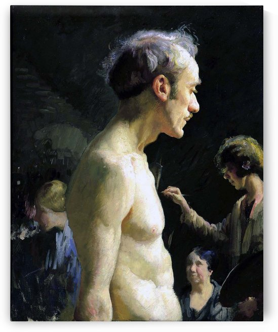 The model and the painter by Luis Jimenez Aranda