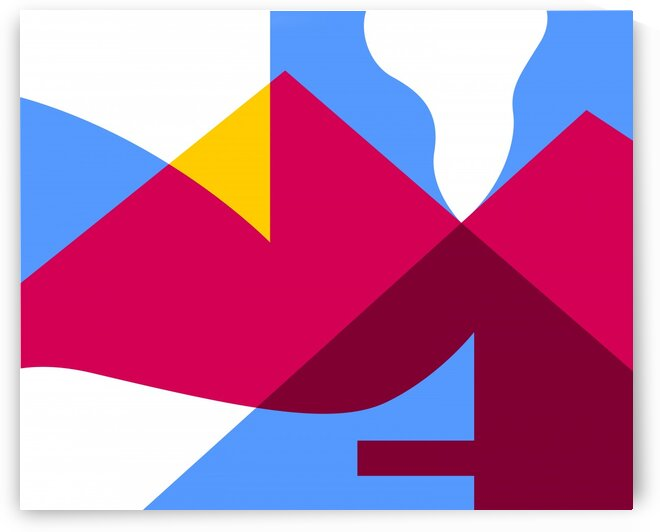 The Mountain Abstract by wpaprint
