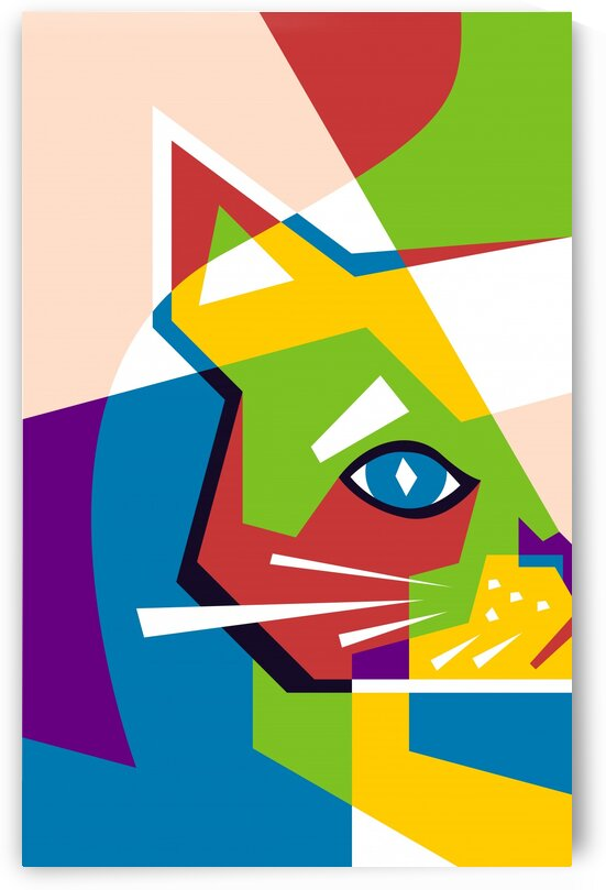 The Colorful Cat by wpaprint