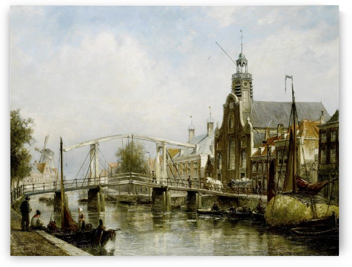 Magere Brug Amsterdam by Cornelis Christiaan Dommelshuizen