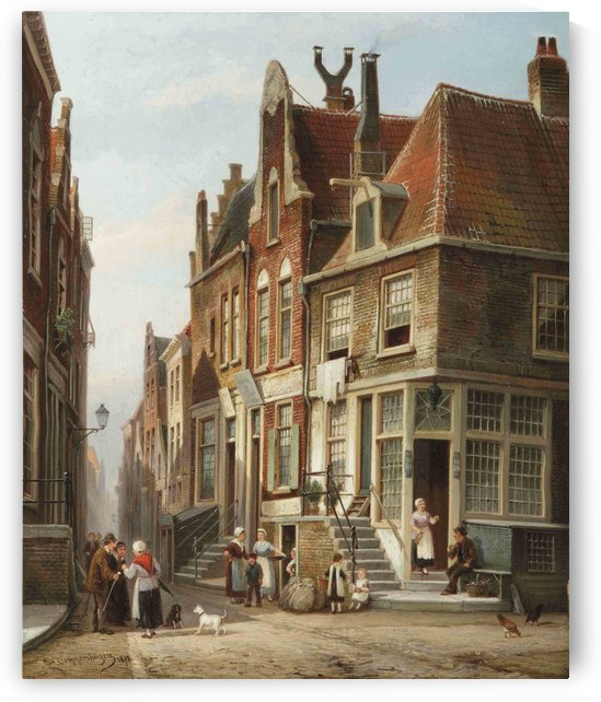 The Jewish quarter, Amsterdam by Cornelis Christiaan Dommelshuizen