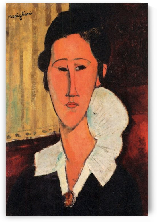 Modigliani - Portrait of Anna Zborowska -3- by Modigliani