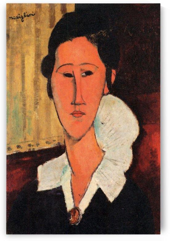 Modigliani - Portrait of Anna Zborowska -3- by Modigliani