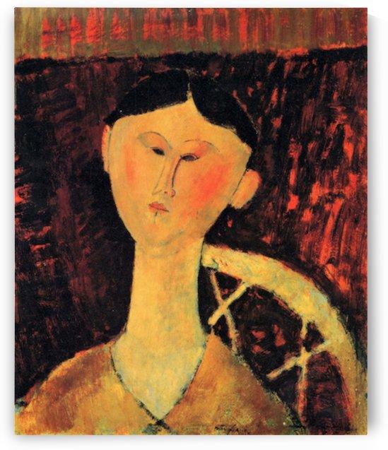Modigliani - Portrait of Beatrice Hastings -2- by Modigliani