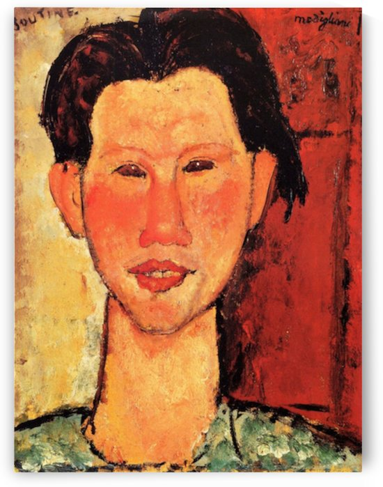 Modigliani - Portrait of Chaiim Soutine -3- by Modigliani
