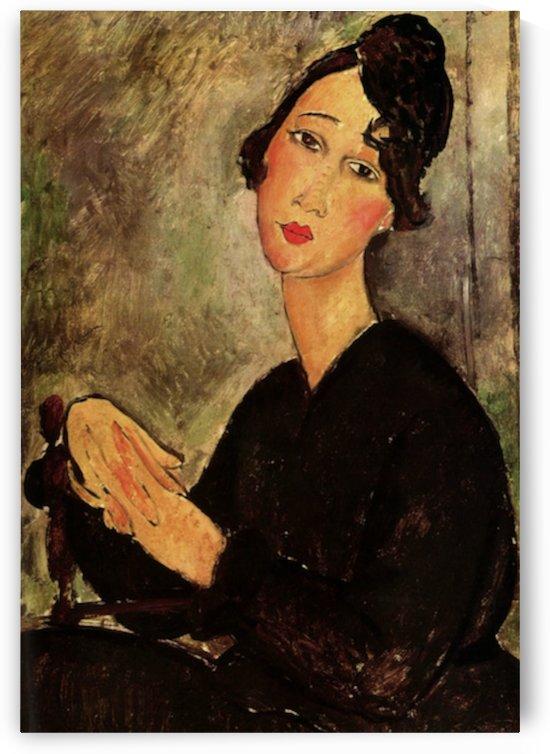 Modigliani - Portrait of Dedie by Modigliani