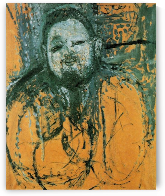 Modigliani - Portrait of Diego Rivera -2- by Modigliani
