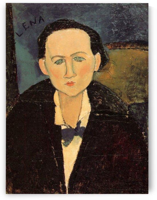 Modigliani - Portrait of Elena Pavlowski by Modigliani