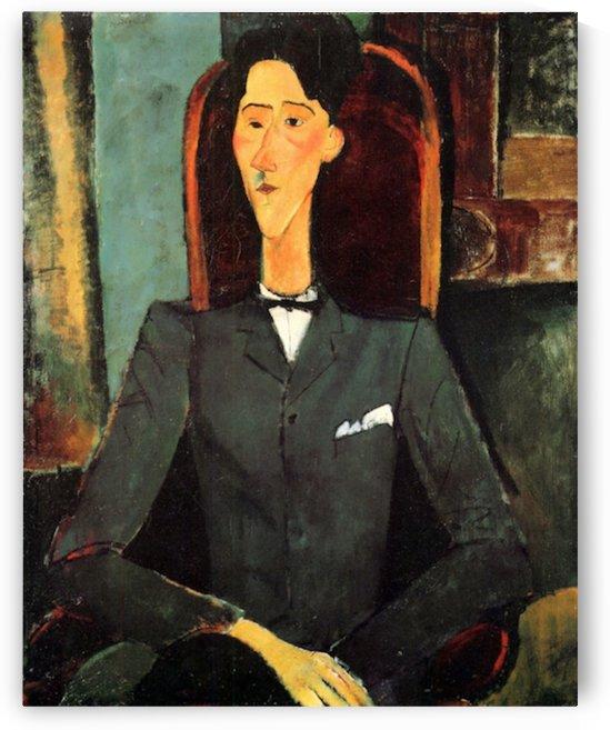 Modigliani - Portrait of Jean Cocteau by Modigliani