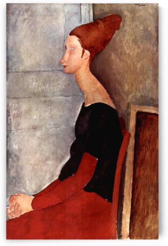 Modigliani - Portrait of Jeanne Hebuterne in dark clothes by Modigliani