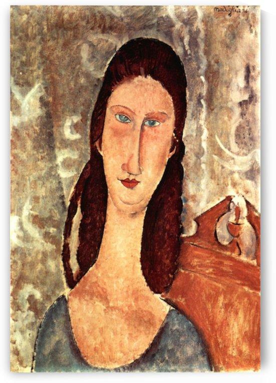Modigliani - Portrait of Jeanne Hebuterne -2- by Modigliani
