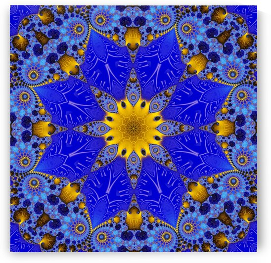 Golden Compass Mandala by Deometry