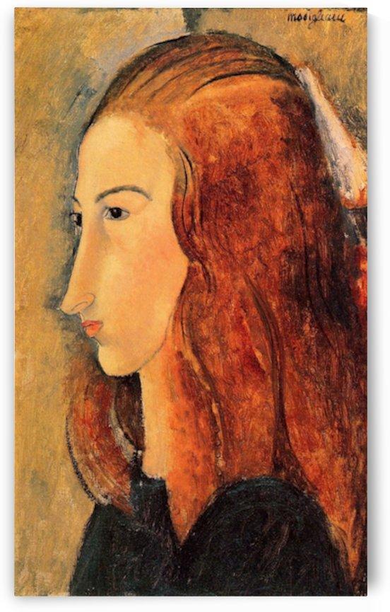 Modigliani - Portrait of Jeanne Hebuterne -5- by Modigliani