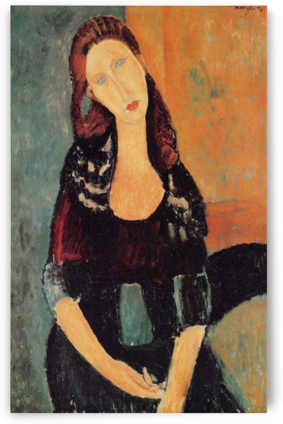 Modigliani - Portrait of Jeanne Hebuterne -6- by Modigliani