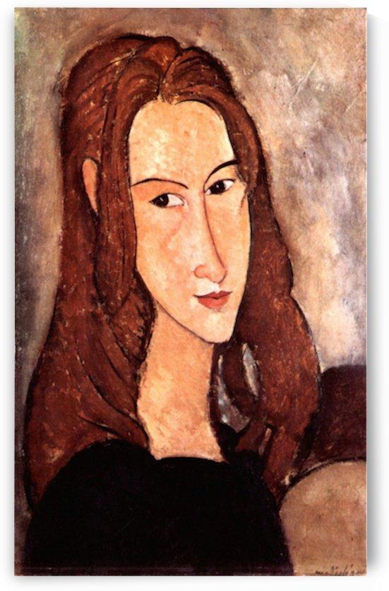 Modigliani - Portrait of Jeanne Hebuterne, profile by Modigliani