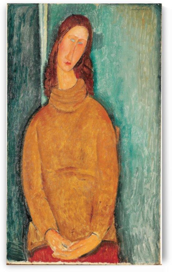 Modigliani - Portrait of Jeanne Hebuterne by Modigliani