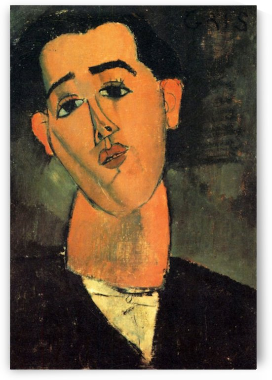 Modigliani - Portrait of Juan Gris by Modigliani