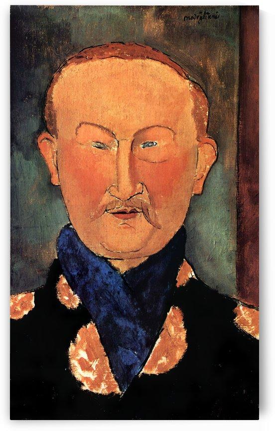 Modigliani - Portrait of Leon Bakst by Modigliani