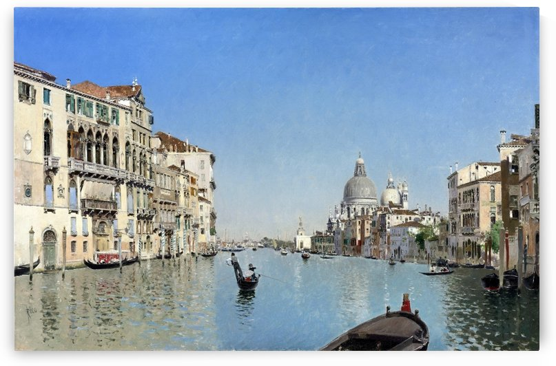 Large Canal in Venice by Martin Rico y Ortega
