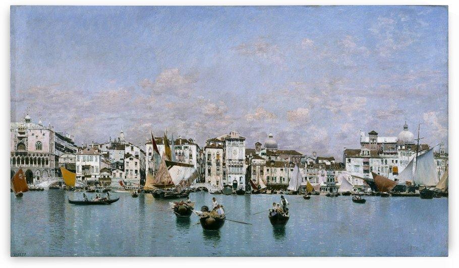 Boats in Venice by Martin Rico y Ortega