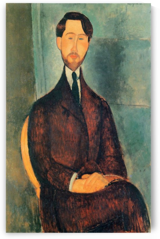Modigliani - Portrait of Leopold Zborowski -2- by Modigliani