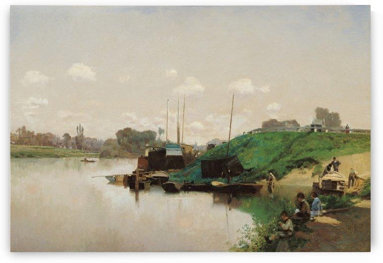 A Summer's Day on the Seine by Martin Rico y Ortega