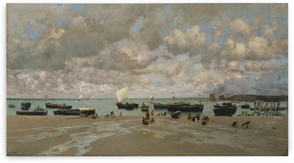 Boats on the sea by Martin Rico y Ortega
