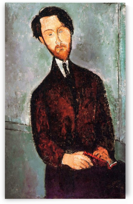 Modigliani - Portrait of Leopold Zborowski -3- by Modigliani