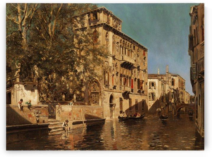 Palast in Venedig by Martin Rico y Ortega