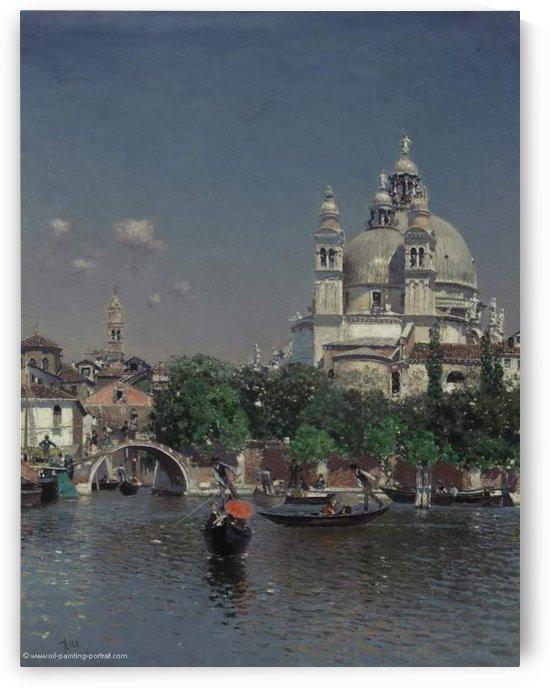 Lagune in Venedig by Martin Rico y Ortega