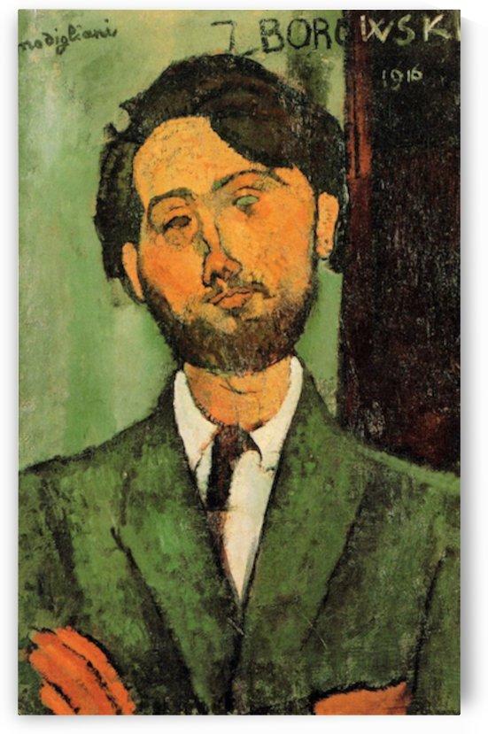 Modigliani - Portrait of Leopold Zborowski -4- by Modigliani