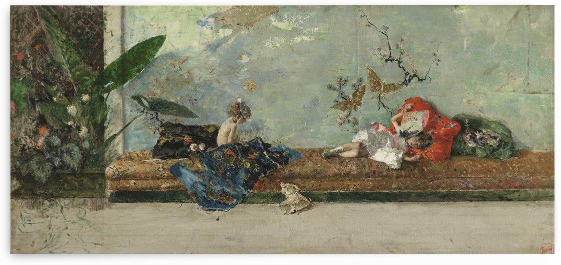 Painter's children by Martin Rico y Ortega