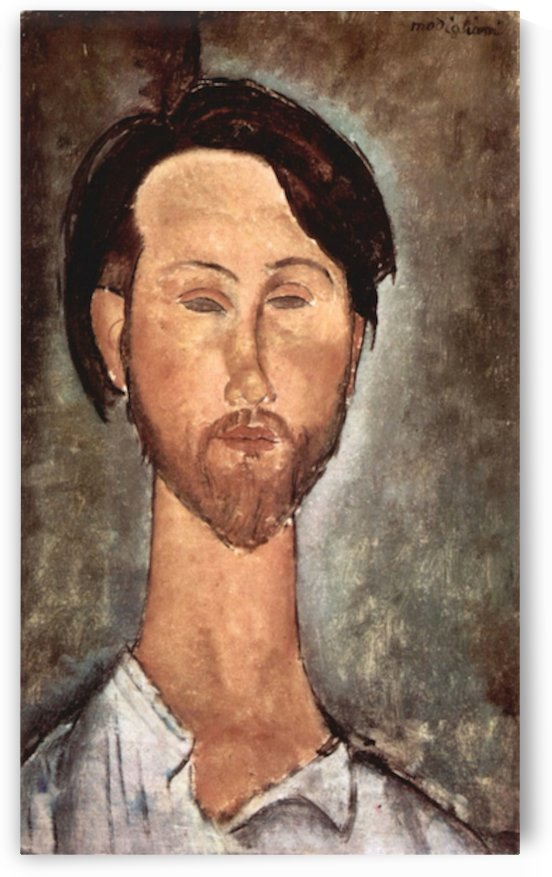 Modigliani - Portrait of Leopold Zborowski by Modigliani