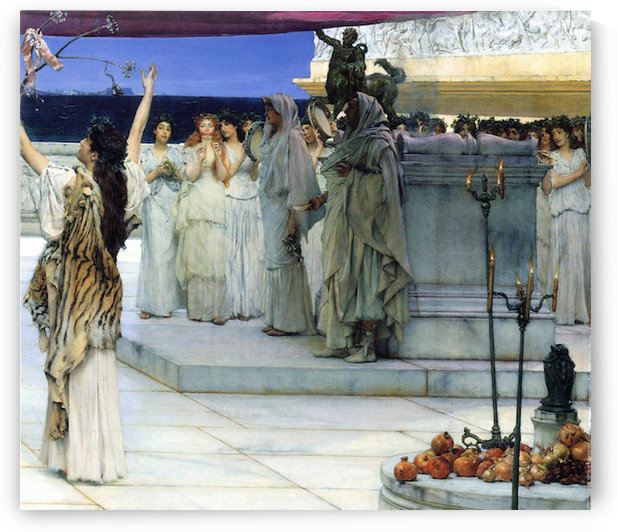 A consecration of Bacchus, detail -2- by Alma-Tadema by Alma-Tadema