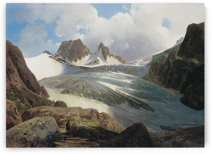 The Vogelmaier Ochsenkar Kees in the Rauris Valley by Thomas Ender