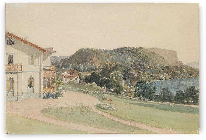 Vila Rittmayer na Blejskem jezeru by Thomas Ender